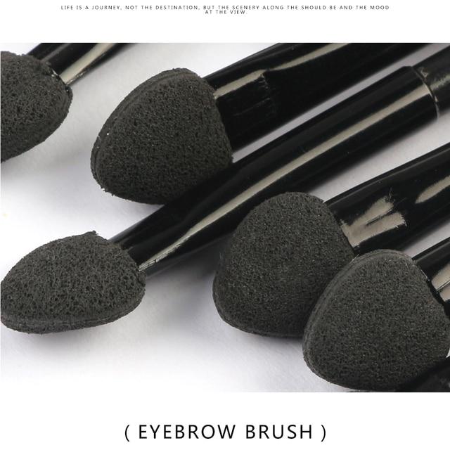 10pcs Professional Eyes Beauty Make up Set Double-headed Eyeshadow Eyebrow Sponge head Makeup Brushes Cosmetic Brush Tools 3