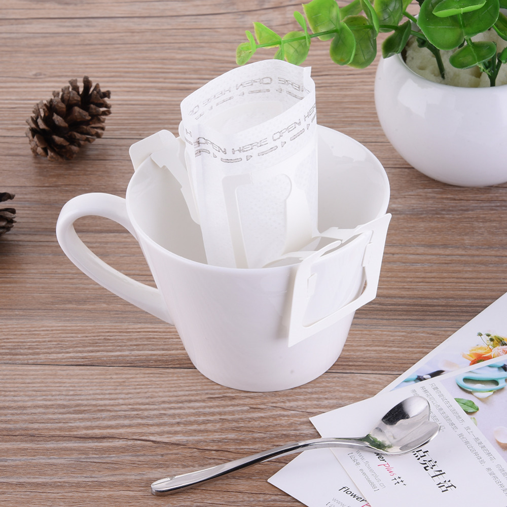 50pcs/100PCS Portable Home Office Travel DIY Drip Coffee Filter Bag Hanging Ear Style Coffee Filters Paper Brew Coffee