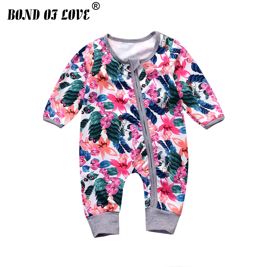 2019 New Children Clothing Baby Rompers Newborn Baby Clothes Long Sleeve Underwear Cotton Costume Boys Girls Autumn Rompers