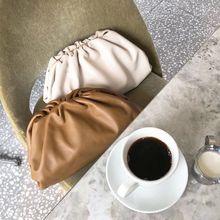 Новая женская сумка с пельменями, простая однотонная модная трендовая сумка через плечо, сумка-мессенджер, сумочка