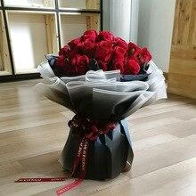 60x60 см корейские цветы оберточная бумага градиентный цвет водонепроницаемая бумага s подарочная упаковка букета бумажные материалы