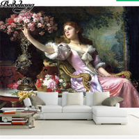 Beibehang Custom Photo Wallpaper 3d World Famous Girl Rose Mural Decorative Painting Background Wallpaper Papel De