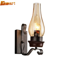 American Village Living Room Dining Room Kitchen Study Bedroom Vintage Wall Lamp110V 220v Dark Wood Color