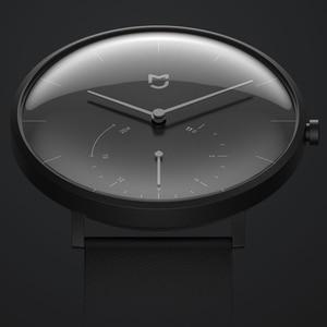 Image 2 - XIAOMI Mi Mijia QUARTZ Smart Watch Life Waterproof with Double Dials Alarm Sport Sensor Pedometer Time Leather Band Mi Home APP