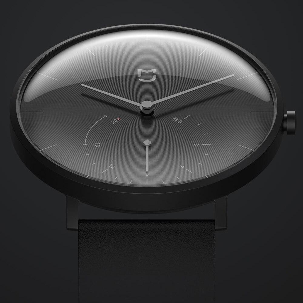 XIAOMI Mi Mijia QUARTZ montre intelligente vie étanche avec Double cadrans alarme Sport capteur podomètre temps bracelet en cuir Mi Home APP - 2