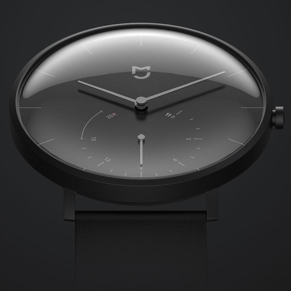 XIAOMI Mi Mijia QUARZ Smart Uhr Leben Wasserdicht mit Doppel Dials Alarm Sport Sensor Schrittzähler Zeit Leder Band Mi Hause APP - 2
