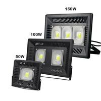 LED Flood Light IP65 Waterproof 50W 100W 150W COB Floodlight 110V 220V Outdoor Wall Lamp Garden Playground Landscape Lighting