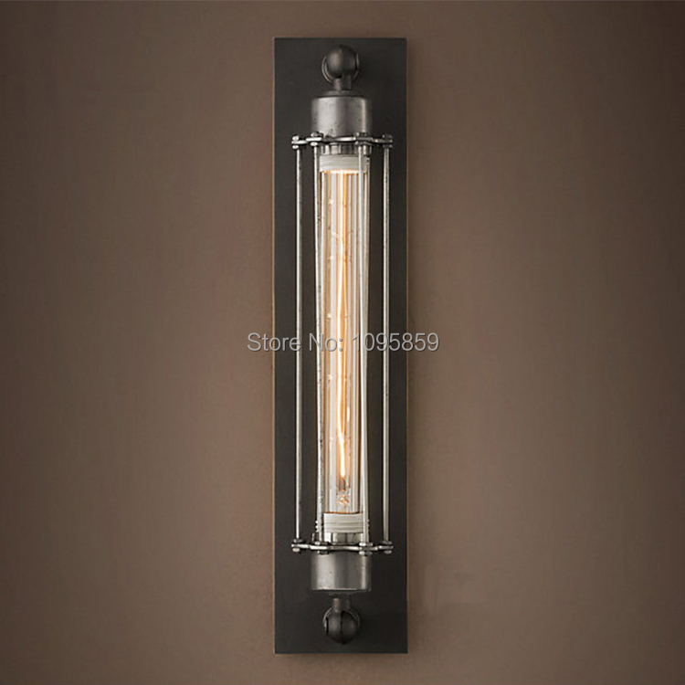 ФОТО Free Shipping Vintage Alcatraz Island Wall Sconce Light Black/Rust Color Bedroom Metal Wall Lamp Fixture