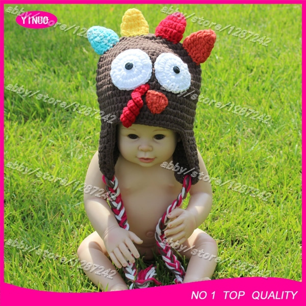 5pcslot New Zealand Best Selling Crochet Baby Santa Hat Turkey