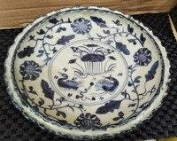 Daming Zheng de annual blue and white flowers, lotus flowers, mandarin ducks, flower plates, fruit plates, all hand made antique