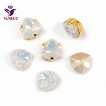 YANRUO 4706 Trilliant White Opal Diamond Strass K9 Fancy Crystals Rhinestones For Sewing Needlework Decor DIY