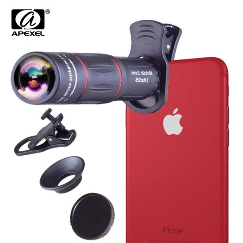 APEXEL Telefon universal 18X Teleskop Zoom telescope Handy Objektiv für iPhone Xiaomi Smartphones APL-18XT