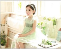 Brand New 2014 Girl S Fashion Apparel 2 7age Bowknot Princess Kid Party Girl Dress Children