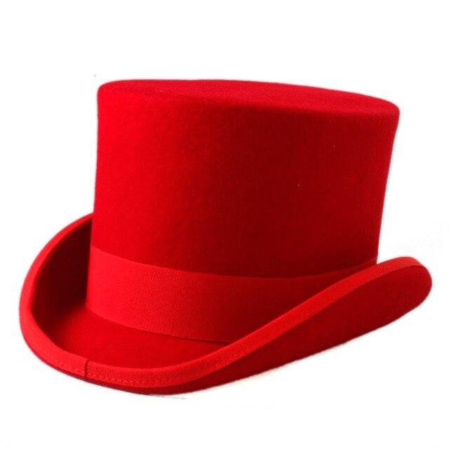 b67c39df1471dd Children 100% Wool Top Hat For Girl Boy Fedoras Hatter Magician Hat Kids  Sam Beaver Church Hat For 4-12 Years Top 13.5CM