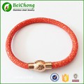 2016 Hot Selling ! New Women's Fashion Red Stingray Leather Bracelets Bijoux Christmas Gifts New Year Free Shipping S5-0272