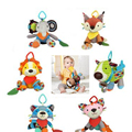 1pcs Reborn Baby Teether Rattle Ring Bell Hot Toys Soft Plush Crib Bed Hanging Animal vibration Early Educational Infant Toys x1