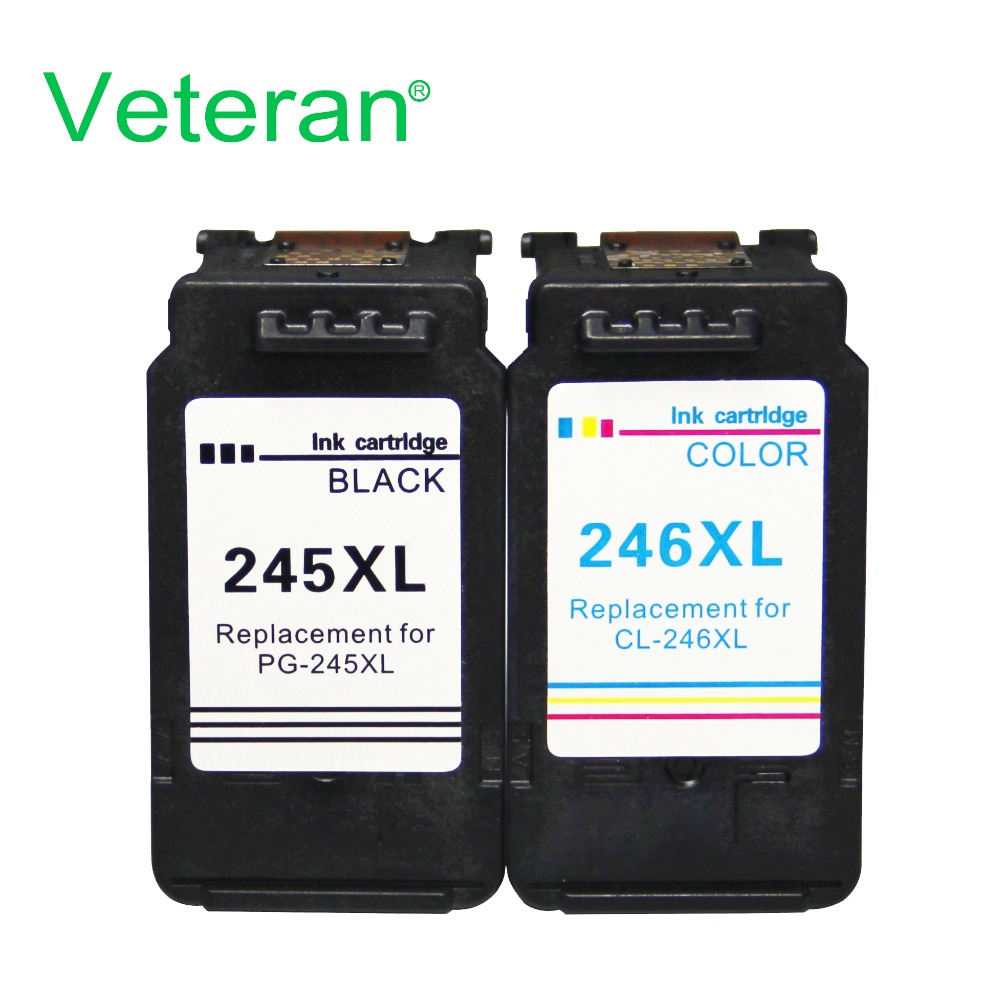InkWorld PG-245XL CL-246XL Remanufactured High Yield Ink Cartridge Compatible wi