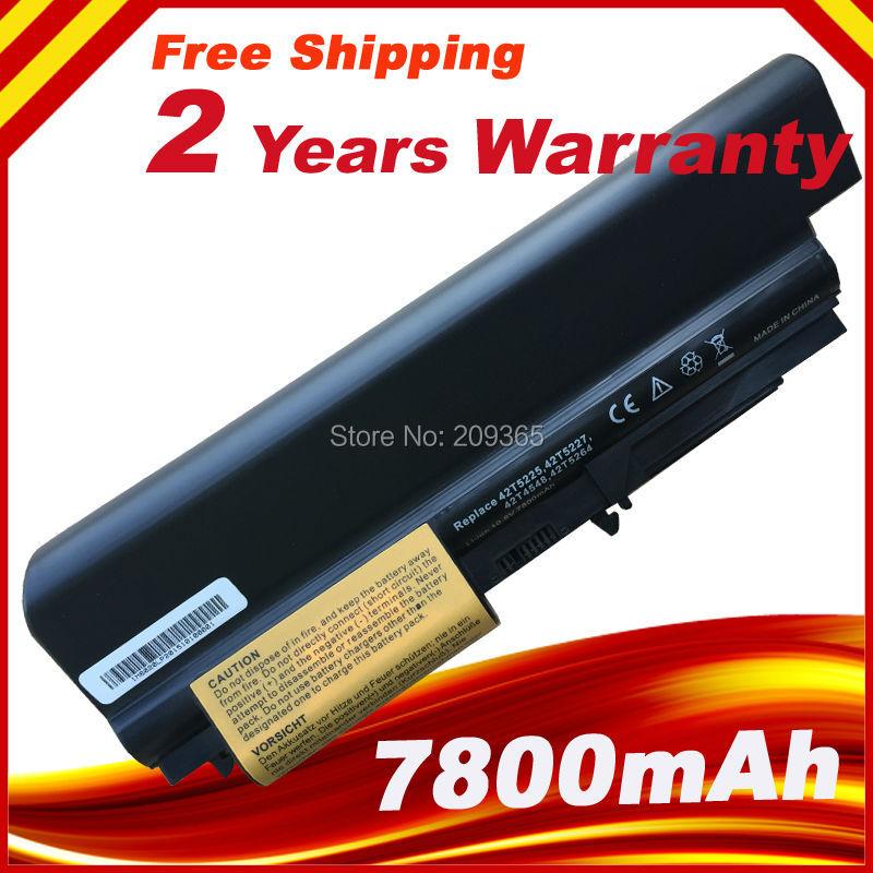 7800mAh 9Cell laptop Battery For IBM Lenovo ThinkPad T61 R61 R61i T61u R400 T400 42T5226 42T5228 42T4552 42T5225 42T5227 new original for lenovo thinkpad t400 r400 r61 r61i t61 14 1 lcd panel screen 141 wxga 1280 800 lp141wx3 tl r1 42t0496 27r2459