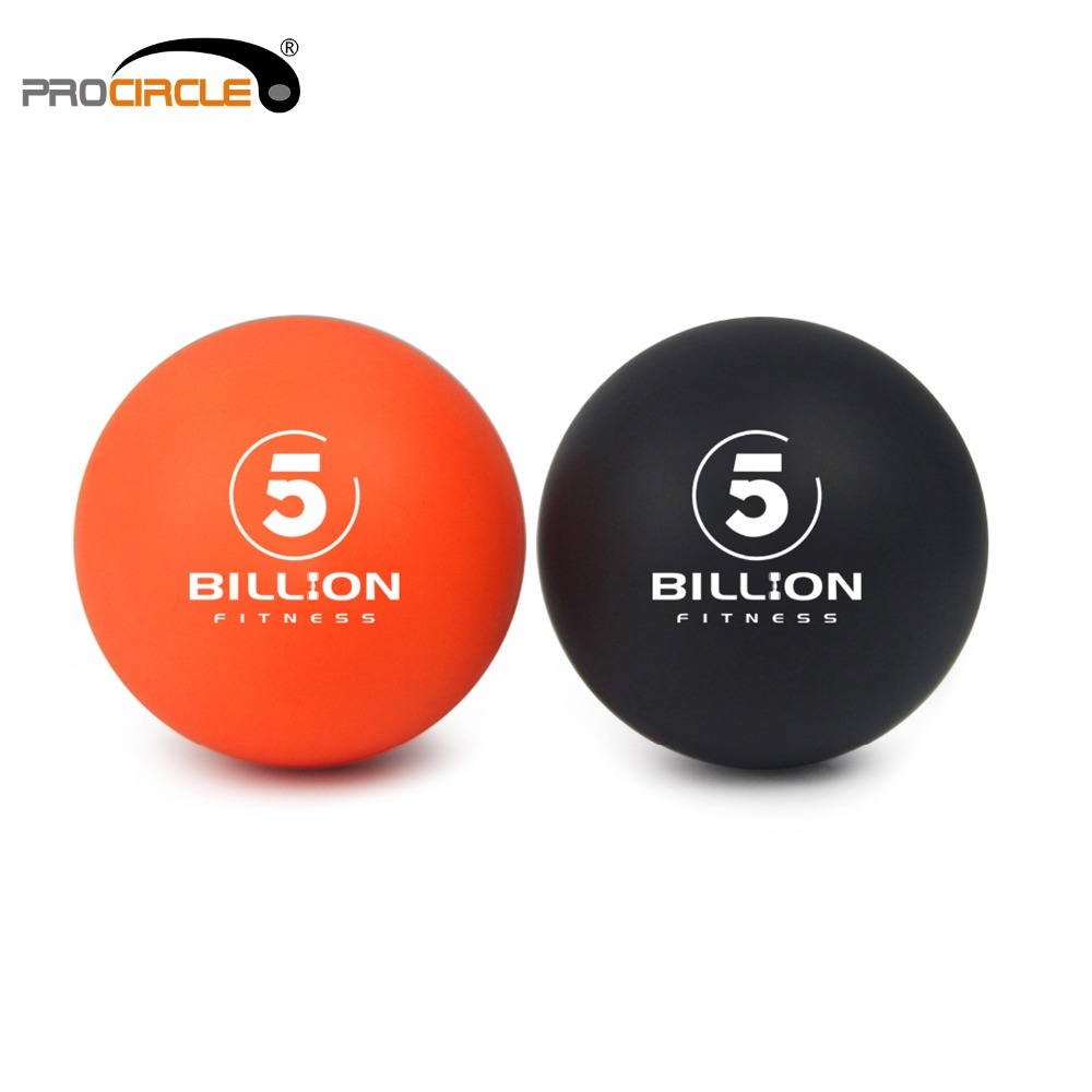 Lacrosse Balls - Deep Tissue Massager, Set 1 Orange & 1 Black-Safe & Effektiv för att lindra och slappna av Myofascial Carry Bag