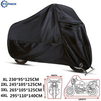 XL/XXL/XXXL/XXXXL 210D Rain Dust Motorcycle Cover Outdoor UV Waterproof For Honda Victory Kawasaki Yamaha Suzuki Harley Davidso