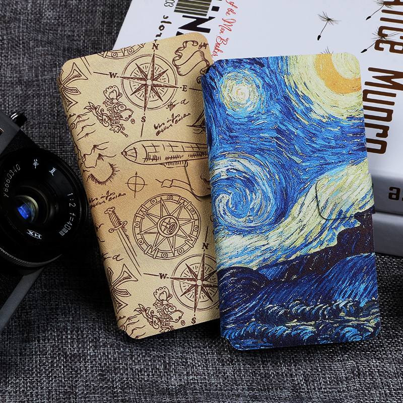 Flip phone case for ZTE Nubia Z17 NX563J S NX595J Painting fundas wallet style protectiv cover for Mini NX589J NX569J S NX569H in Flip Cases from Cellphones Telecommunications