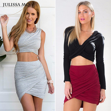 High Waist Sexy Bandage Crossdress Skirt
