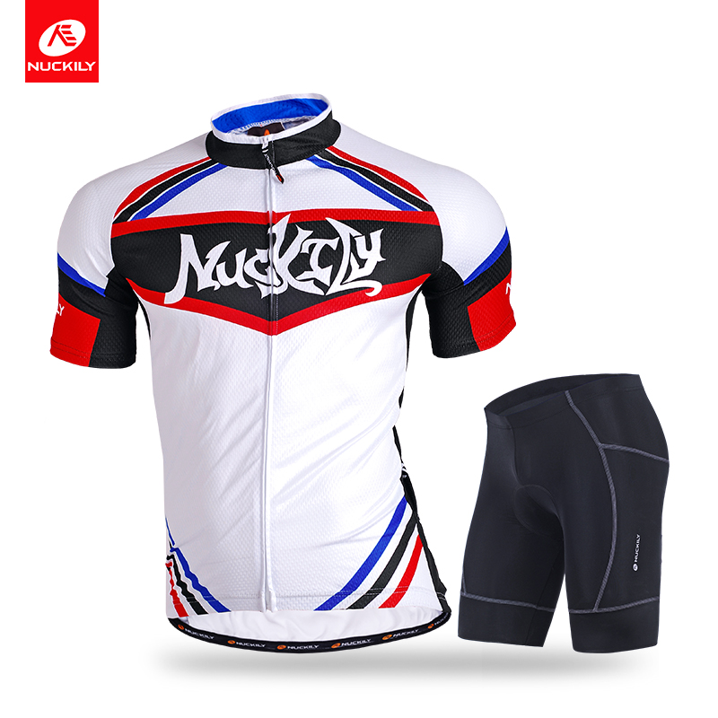 Nuckily  summer cycling short sleeve jersey and short hot selling custom suits for men MG005NS361 cycling jersey 176 hot selling hot cycling jerseys red lily summer cycling jersey 2017 anti shrink compressed femail adequate qu