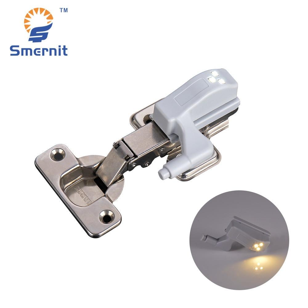 2 Stücke Scharnier Led Sensor Lichter Unter Schrank Lichter Innere Tür Scharnier Led Licht Schrank Schrank Schrank Nacht Lichter Warm Weiß