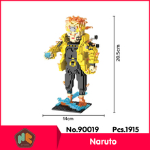 HC9019 1915Pcs Naruto Ninja Series Without Original Box Building Blocks Diamond Bricks Toys Compatible With LOZ