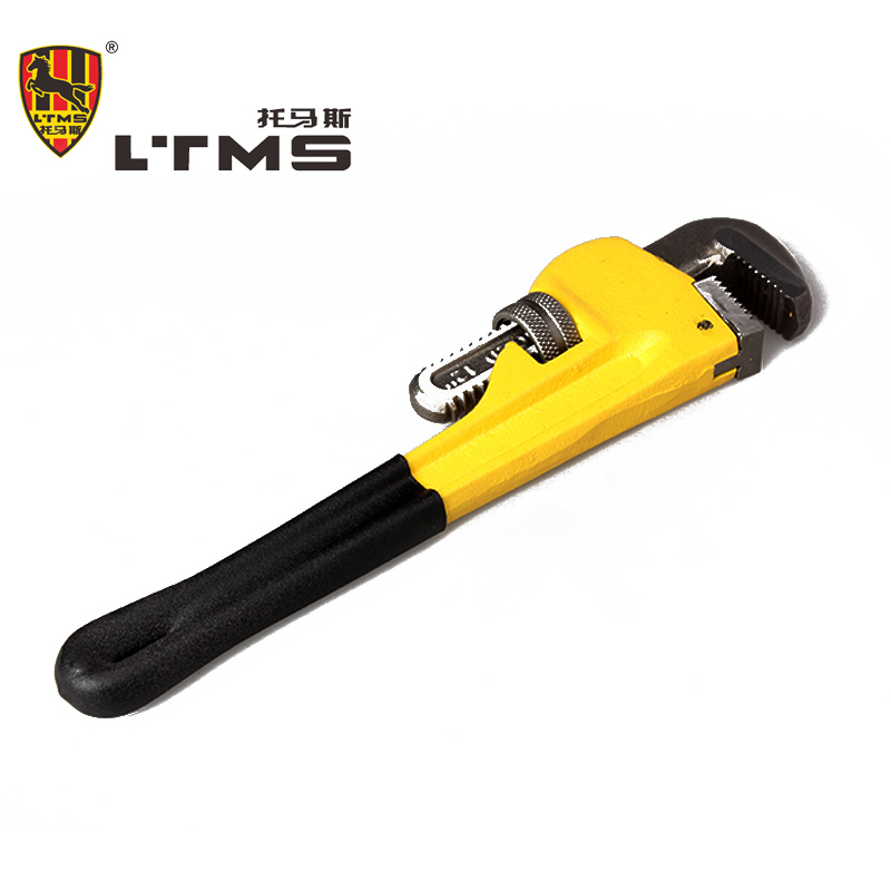 Heavy duty pipe wrench manual adjustable clamp