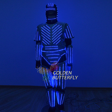 LED Clothing Luminous Glowing Clothes 2015 Star Wars LED Talent Show Men's LED Suits Ballroom Mechanical Dance Dress Accessories