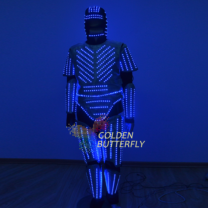 LED Clothing Luminous Glowing Clothes 2017 Star Wars LED Talent Show Men's LED Suits Ballroom Mechanical Dance Dress Accessories