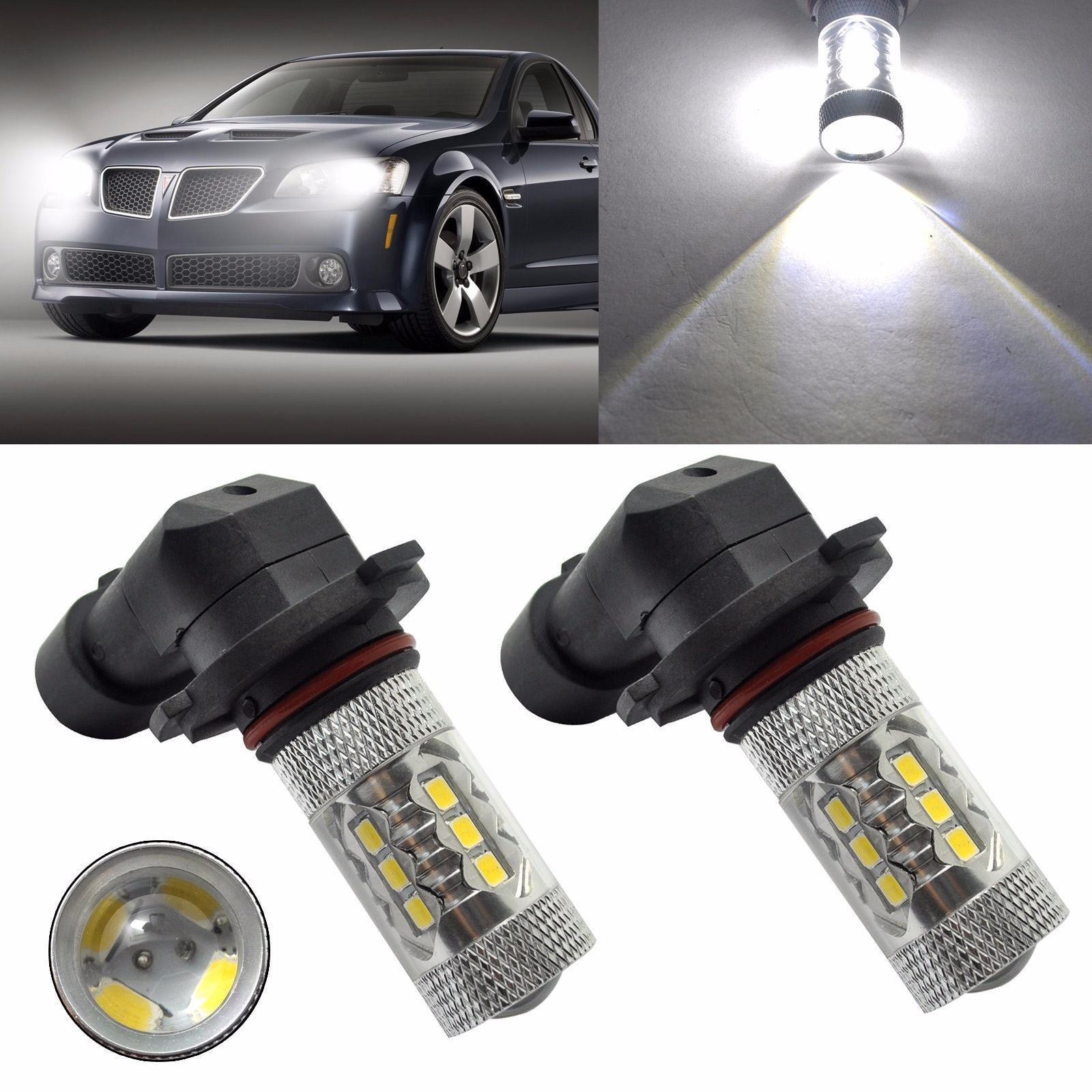Car Fog Lamp Waterproof 2pc 9006 HB4 2323 SMD 80W LED High Power 6000K Fog Driving