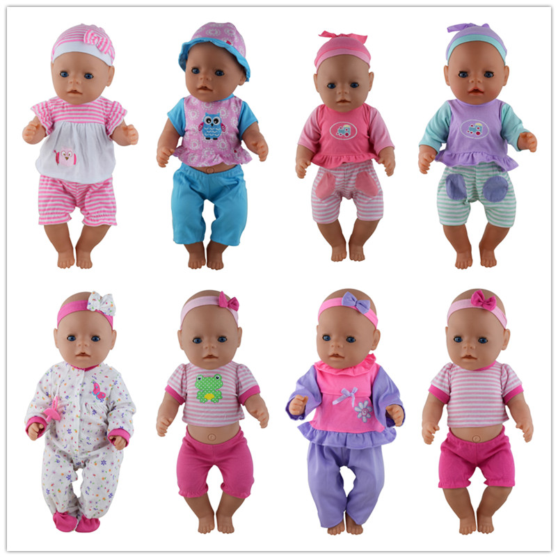 Doll Clothes 43cm Baby Born Zapf Doll Reborn Babies 17 Inch Doll Accessories rose christmas gift 18 inch american girl doll swim clothes dress also fit for 43cm baby born zapf dolls