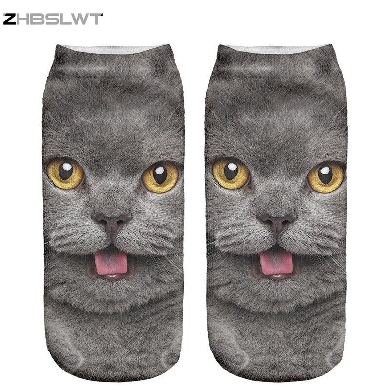 ZHBSLWT 3D Print Animal Man And Women Socks Casual Cartoon Socks Unisex Low Cut Ankle Socks Multiple Colors
