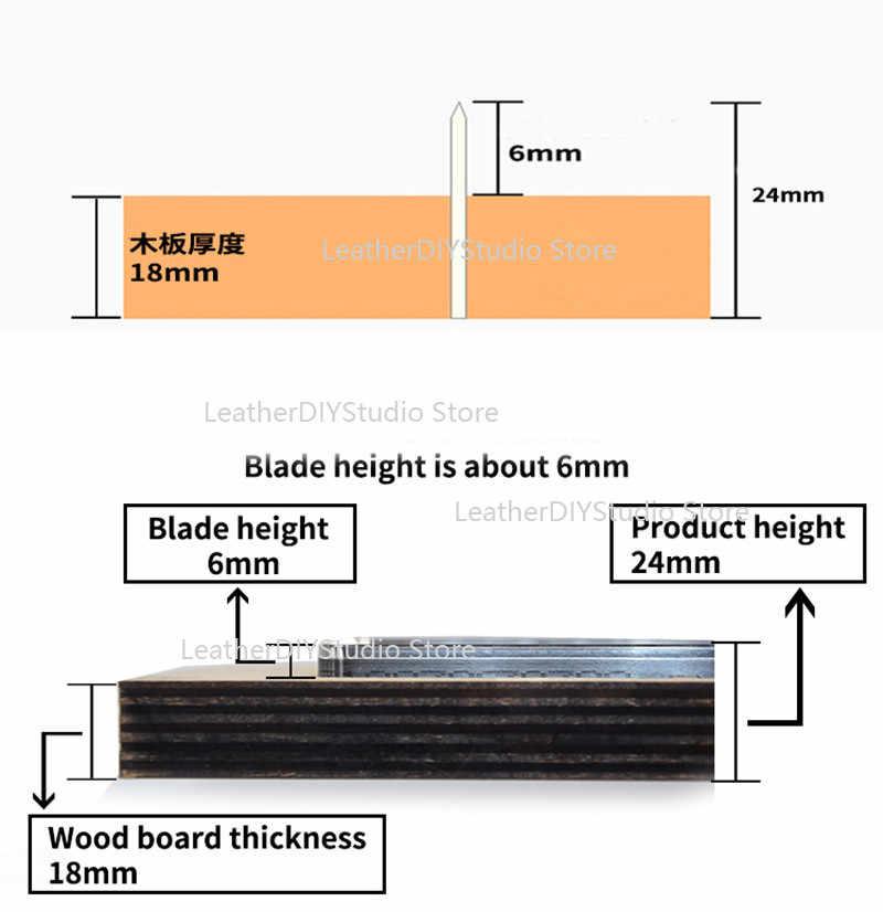 Jepang Pisau Baja Kulit Ditumpuk Bentuk Oval Drop Anting-Anting Die Cut Aturan Cutter Mold untuk DIY Pukul Kulit Kerajinan Alat 30/40/50 Mm