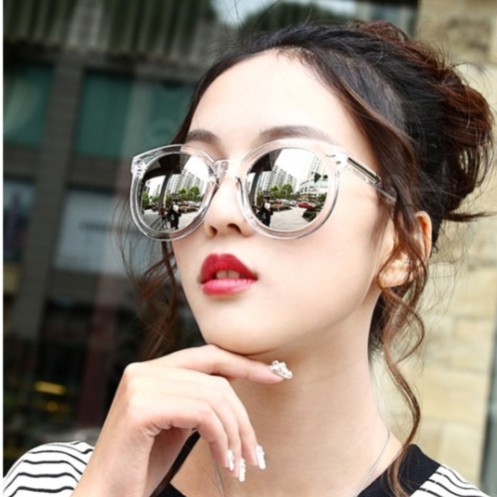 a8deb6a5c9 2018 new Female tide film sunglasses female star models retro round round  face large-framed