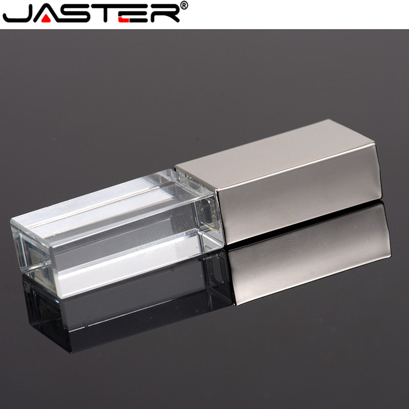 JASTER Glass USB For Car Logo Usb Pen Drive 4GB 8GB 16GB 32GB USB Flash Drive, Memory Drive Stick Pen/ Car Gift