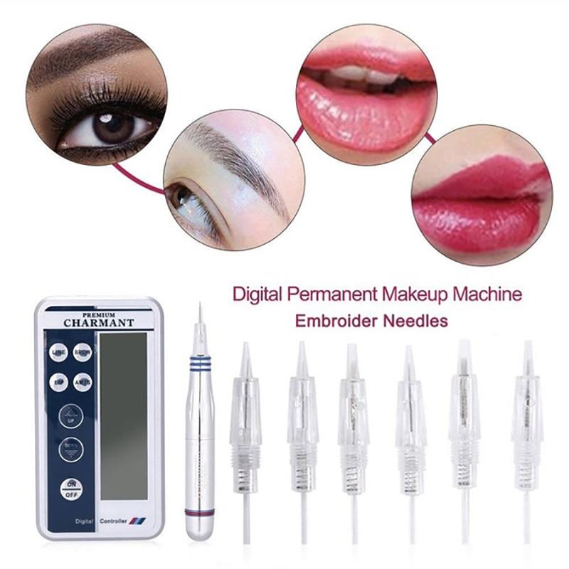 5PCS Disposable Srew Needles Tattoo Cartridge For Premium Charmant Permanent Makeup Microblading Machine Pen 1D 1P 3P 5P 3FP 5FP