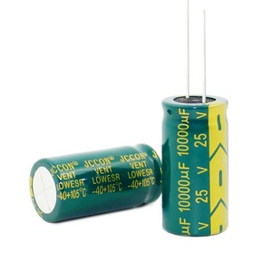 Image 2 - 100 шт. ~ 20 шт. 25V10000UF 10000 мкФ 25V высокочастотные низкостойкие электролитические конденсаторы размером: 18*35 мм, лучшее качество, новинка origina