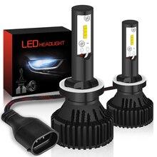TUINCYN Automobili H27 880 881 LED Auto Lampadina Del Faro 6500 K Bianco H27W/2 Fari Luci di Guida Testa Della Lampada 60 W Potente ZES Chip