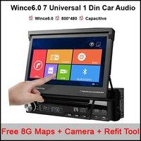 7 1 DIN wince dvd плеер GPS навигации Универсальный в тире съемная передняя Панель Авто Радио аудио стерео Поддержка dab