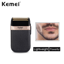 цена на Kemei Electric Shaver for Men Twin Blade Waterproof Reciprocating Cordless Razor USB Rechargeable Shaving Machine Barber Trimmer