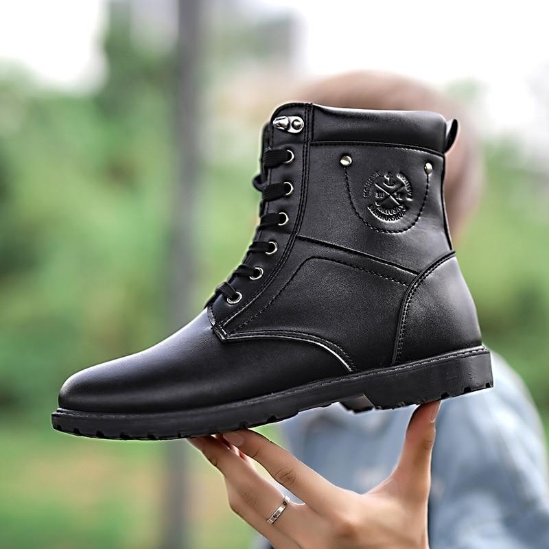 À Bottes Ayakkabi Askeri Armée marron Sécurité Meskie Hombre Erkek Botas Bot Bois Buty Noir Masculina Chaussures Hiver Terre Zapatos rqPfr8