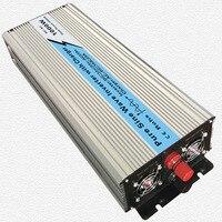 Непрерывное 1000 Вт UPS Чистая синусоида Инвертор Вход 12 В/24 В Выход 220 В/110 В постоянного тока до солнечной Системы инвертор с 20A/10A Зарядное устр
