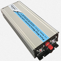Continuous 1000W UPS Pure Sine Wave Inverter Input 12V/24V Output 220V/110V DC to AC Solar System Inverter with 20A/10A Charger