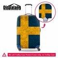 Dispalang Швеция Национальный Британский Флаг чемодан тележка случае защитный чехол персонализированные путешествия упругие камера протекторы