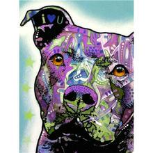 Yikee Алмазная картина собаки домашний декор полный квадрат/Круглое