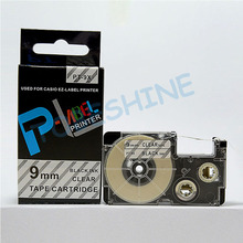 Free shipping 5 pcs/lot Compatible label tape XR-9X 9mm black on clear for EZ Label maker
