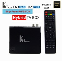 KI plus s2 t2 DVB 2in1 K1 DVB S2 DVB T2 tv box androidOS amlogic s905D 1g 8g 4k Supports CCCAM IPTV arabic europe Brazil Swedish